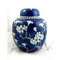 Niebieska chińska waza