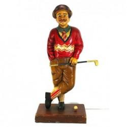 Golfista - rzeźba z drewna