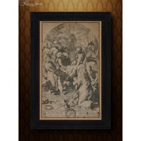 RYCINA -EGIDIUS ( GILLES) SADELER II (1570-1629)-ZDJĘCIE Z KRZYŻA- OBIEKT MUZEALNY