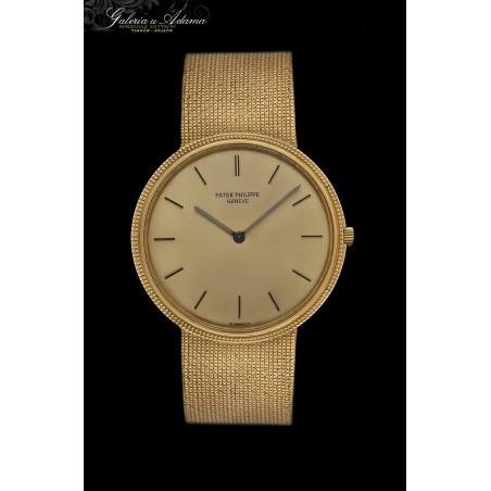 """Luksusowy zegarek """"Patek Philippe""""-model Calatrava ze złota-18 karat z bransoletką-mechaniczny-Oryginał !"""