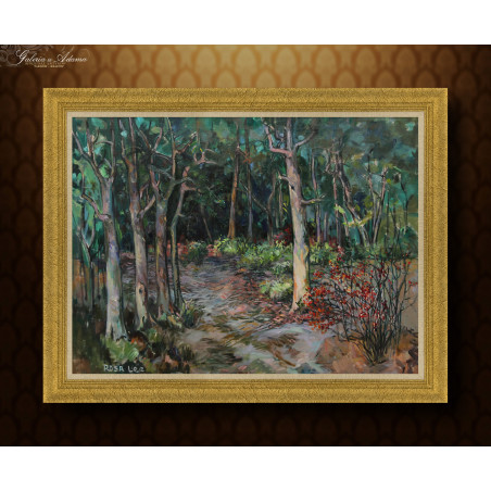 Obraz olejny- Rosa Lee - Leśna ścieżka.