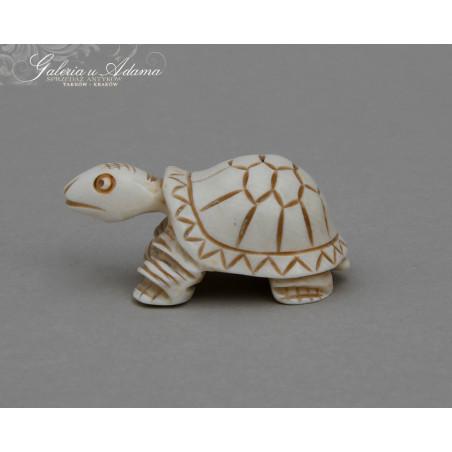 """Pocz XX w- Figurka kolekcjinerska""""żółwik"""" wykonana z kości słoniowej."""
