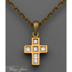 Krzyżyk złoty-18 karat z...