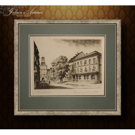 Dom urodzin A.Hitlera w Braunau-Austria-Grafika-sygnowana.