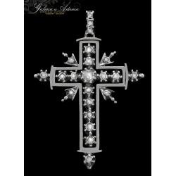 XIX w-Krzyżyk z białego...