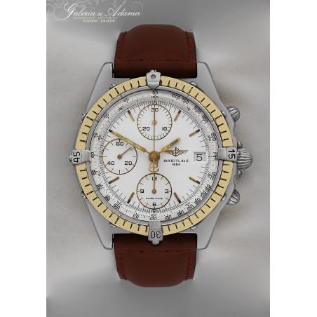 """"""" BREITLING """" -Zegarek męski, Chronograf-Automatyczny-Stal, częściowo złocona-Kultowy model !"""