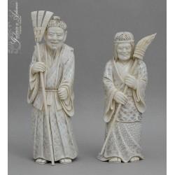 JAPONIA XIX w- Para figur z...