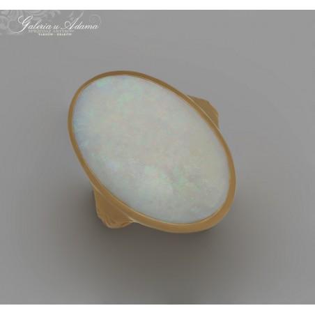 Pierścionek złoty-18 karat wysadzany OPALEM mlecznym-2,80 karata !