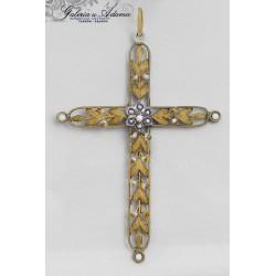 XIX w-Krzyżyk złoto/srebrny...