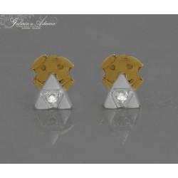 Kolczyki z białego złota-14...