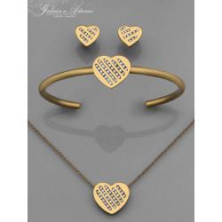 """Komplet biżuterii  """"Serca""""..."""