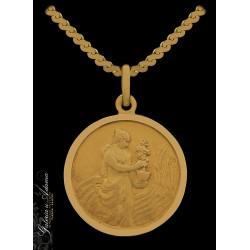 Medalion złoty-18 k z...