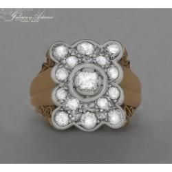 Pierścień złoty-18 karat...